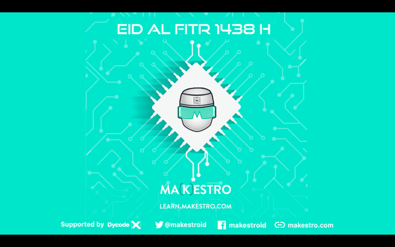 Share joy and blessings with the spirit of community. Wish you a blessed Eid al-Fitr 1438H.